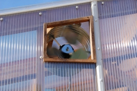 greenhouse fan close up