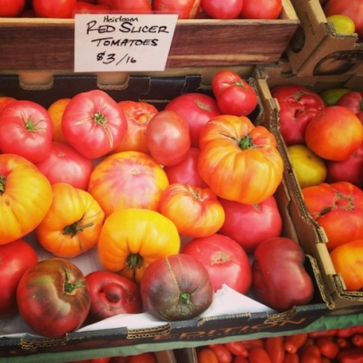 heirloom tomatoes insta sm